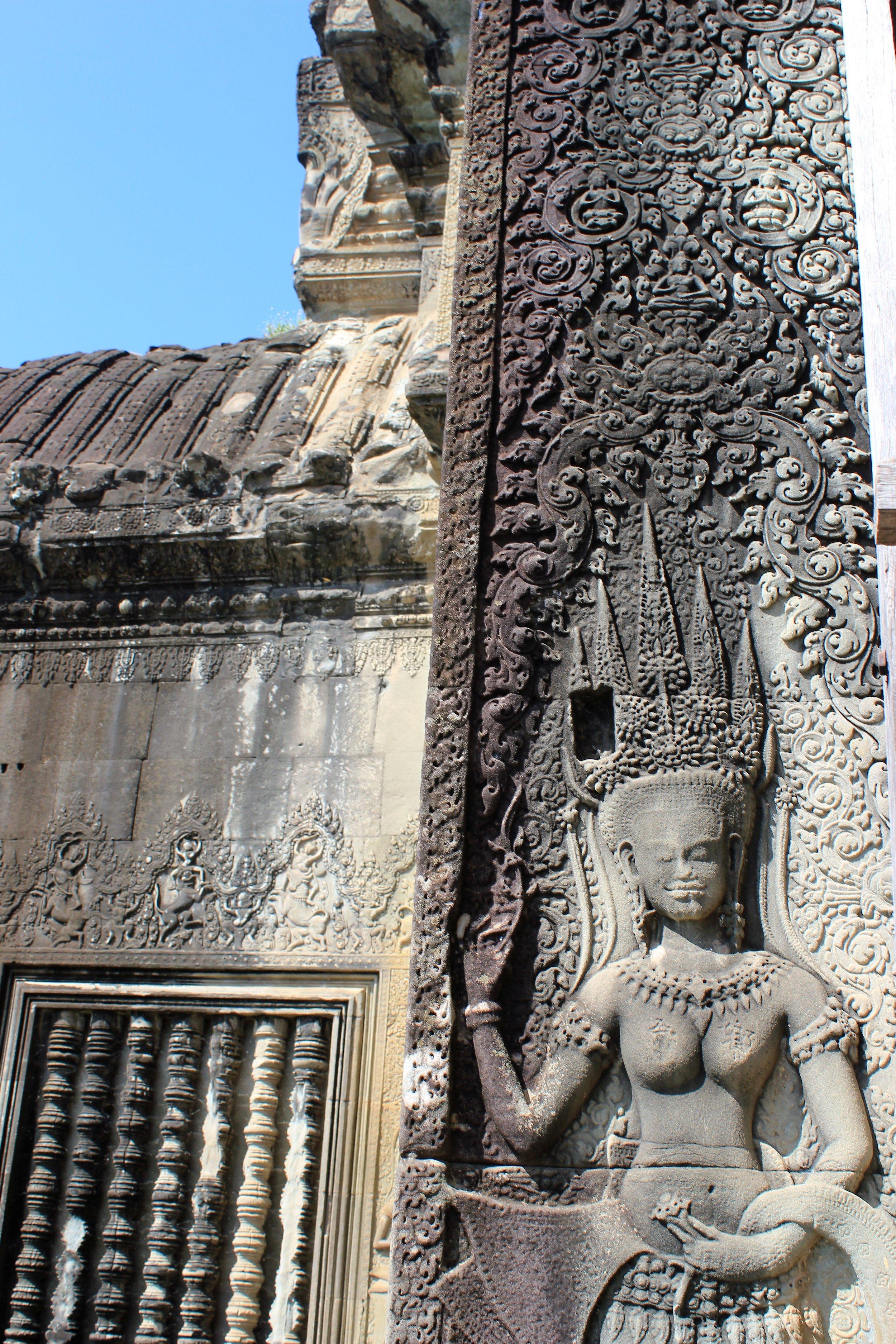 Intraquite detail at Angkor Wat