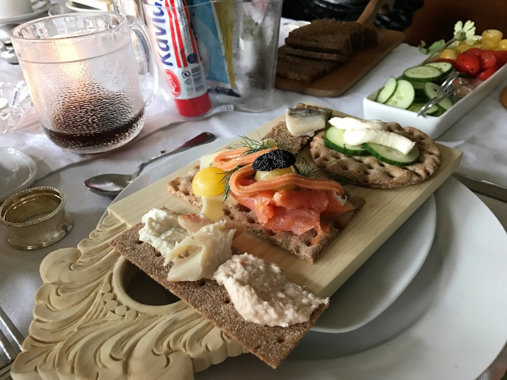 Traditional Norwegian Breakfast at Upstate AirBnB