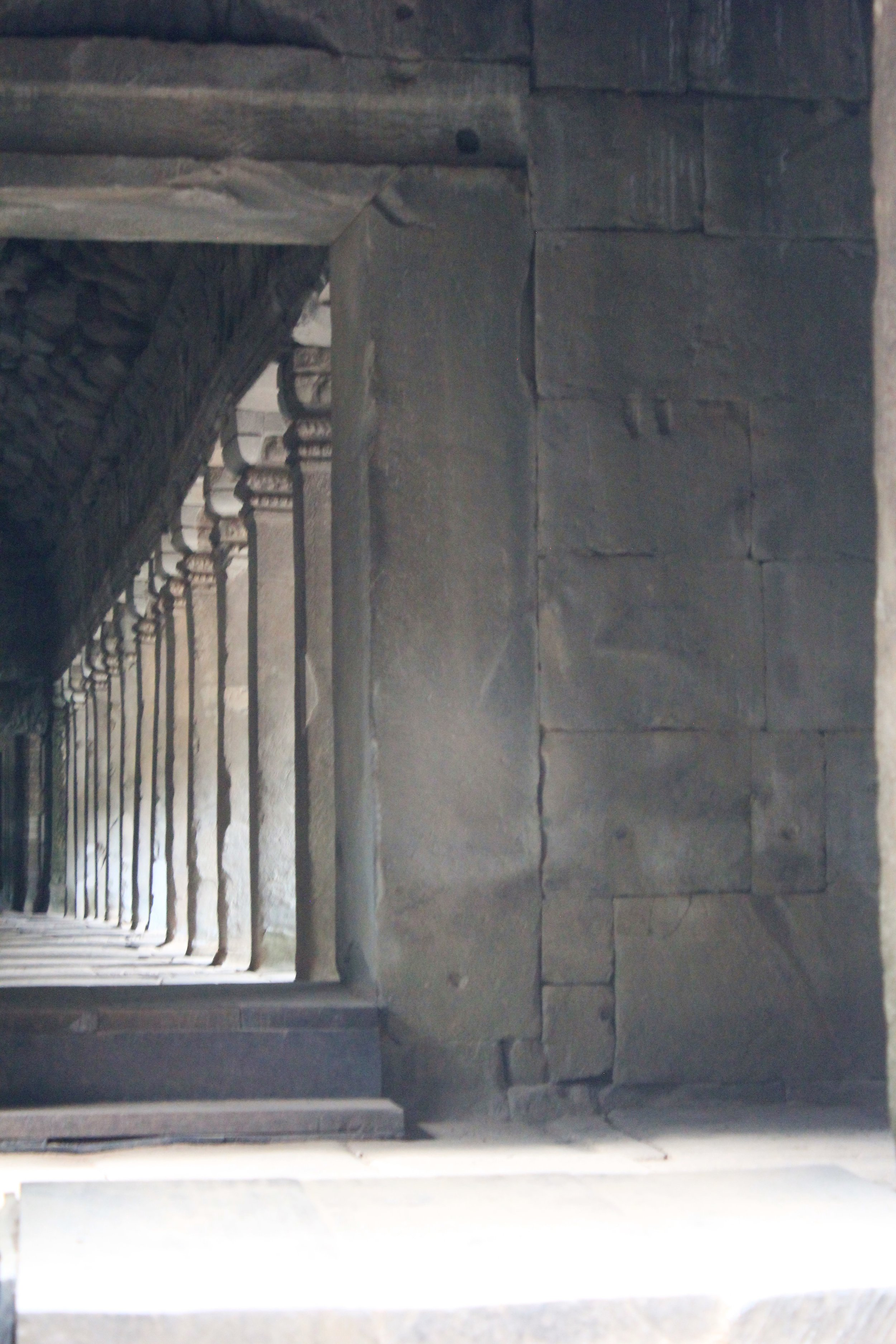 Columns in Angkor Wat