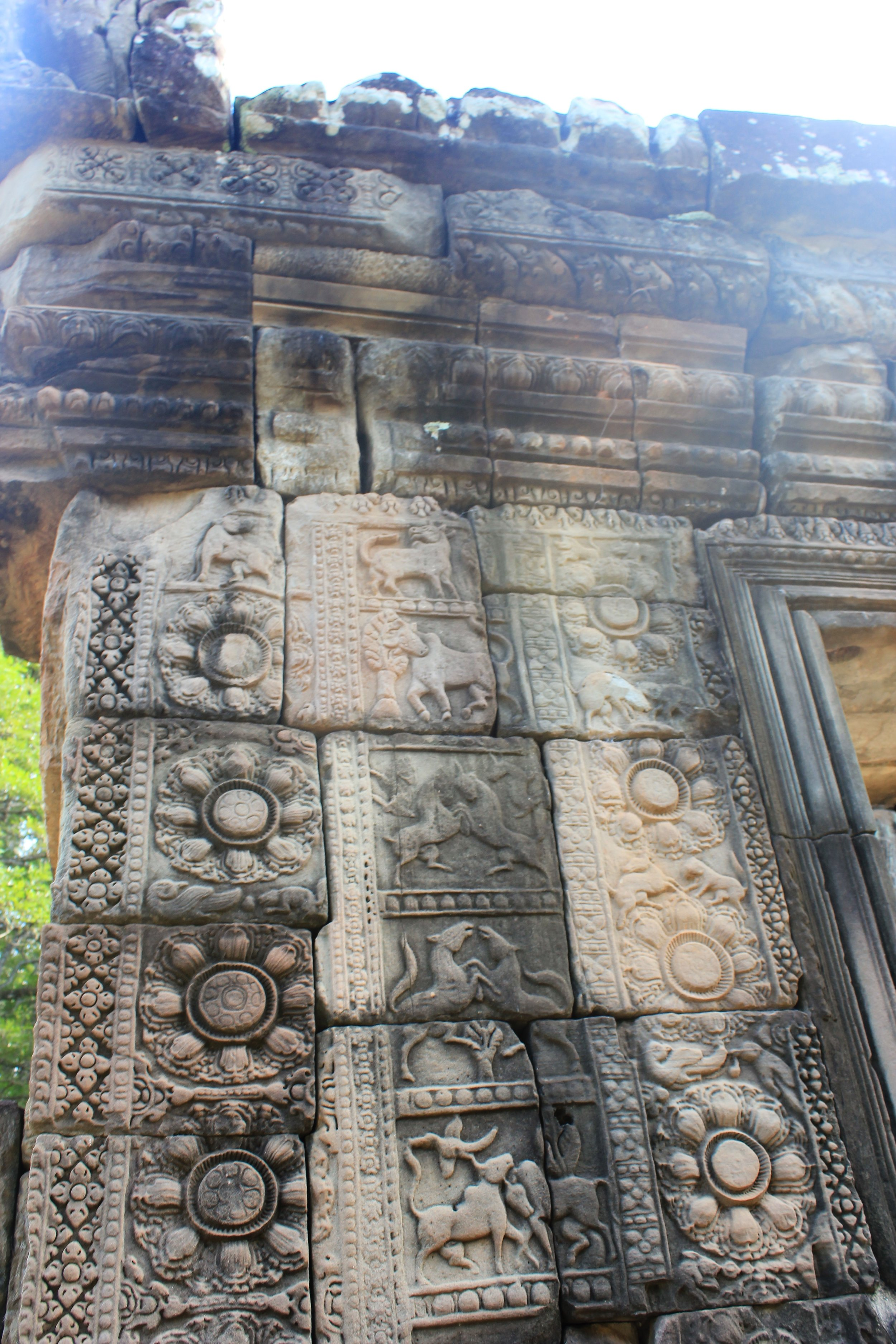 Ornate Detail in Angkor Thom
