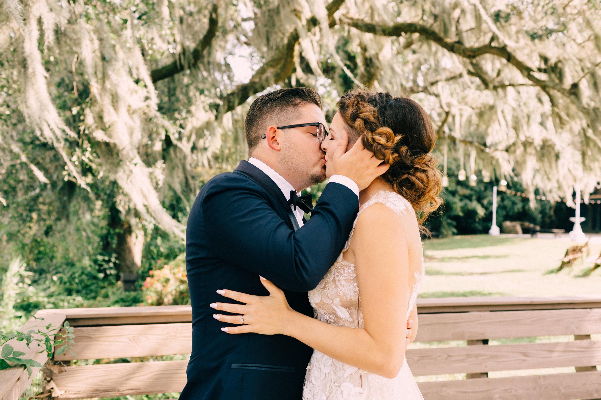 First Look First Kiss Wedding photo
