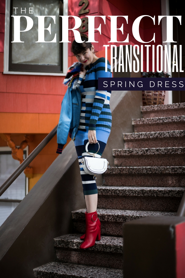 this is this year's PERFECT Transitional Spring Dress