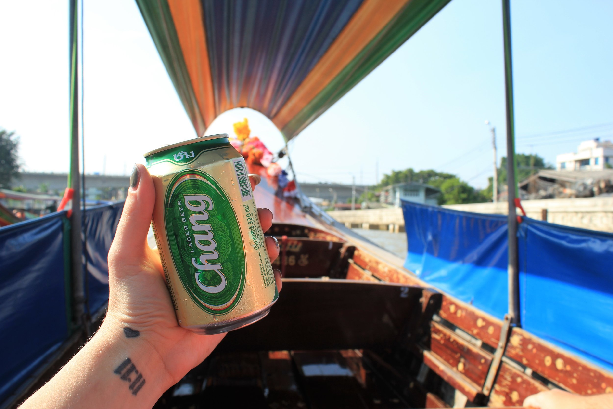 Chang beers on a Riverboat in Bangkok - 12 more photos to inspire you to visit Thailand