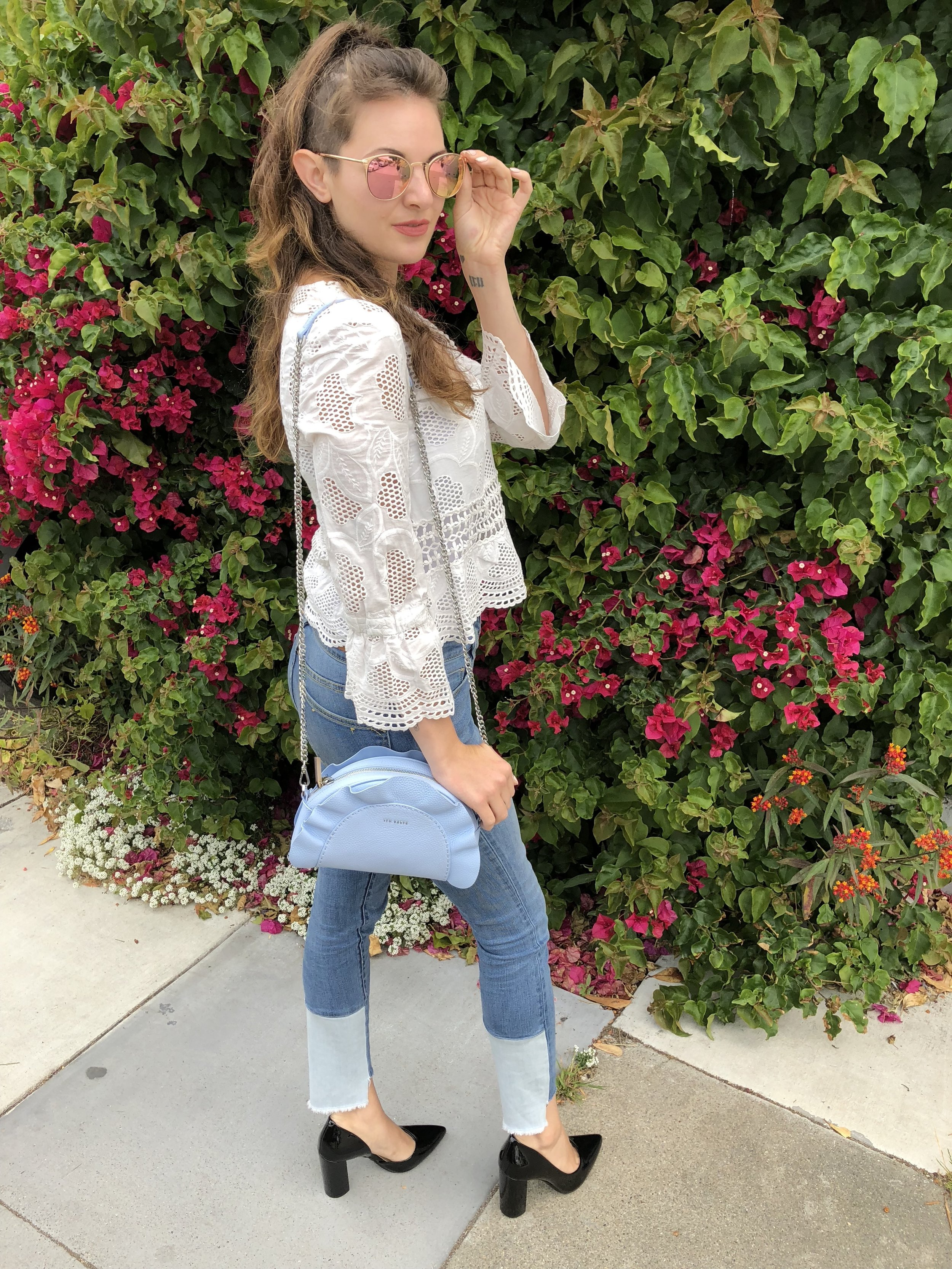 White Lace Top Outfit Idea