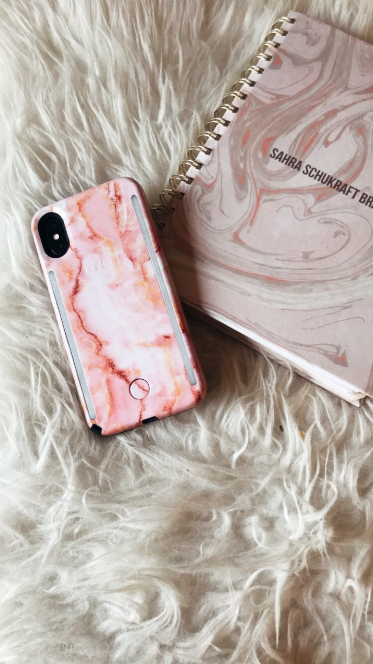 Pink Marble Everything (planner by Paper Source, iPhone X Case by Lumee)
