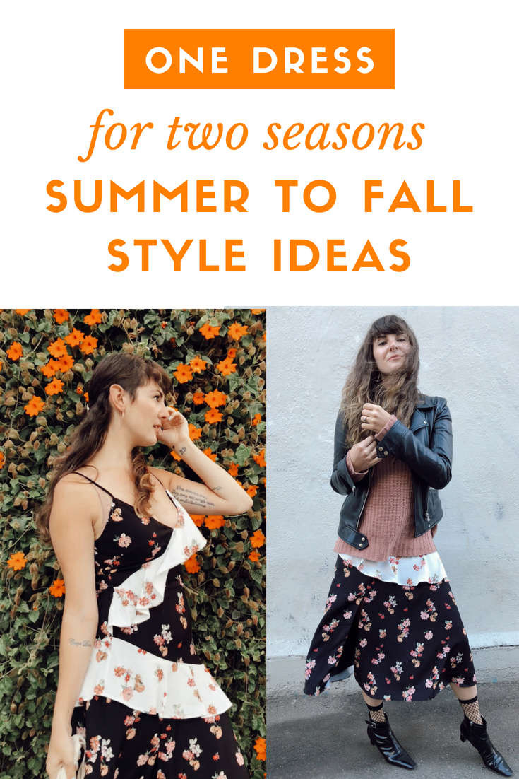 How to Style the Same Dress for Both Summer and Fall