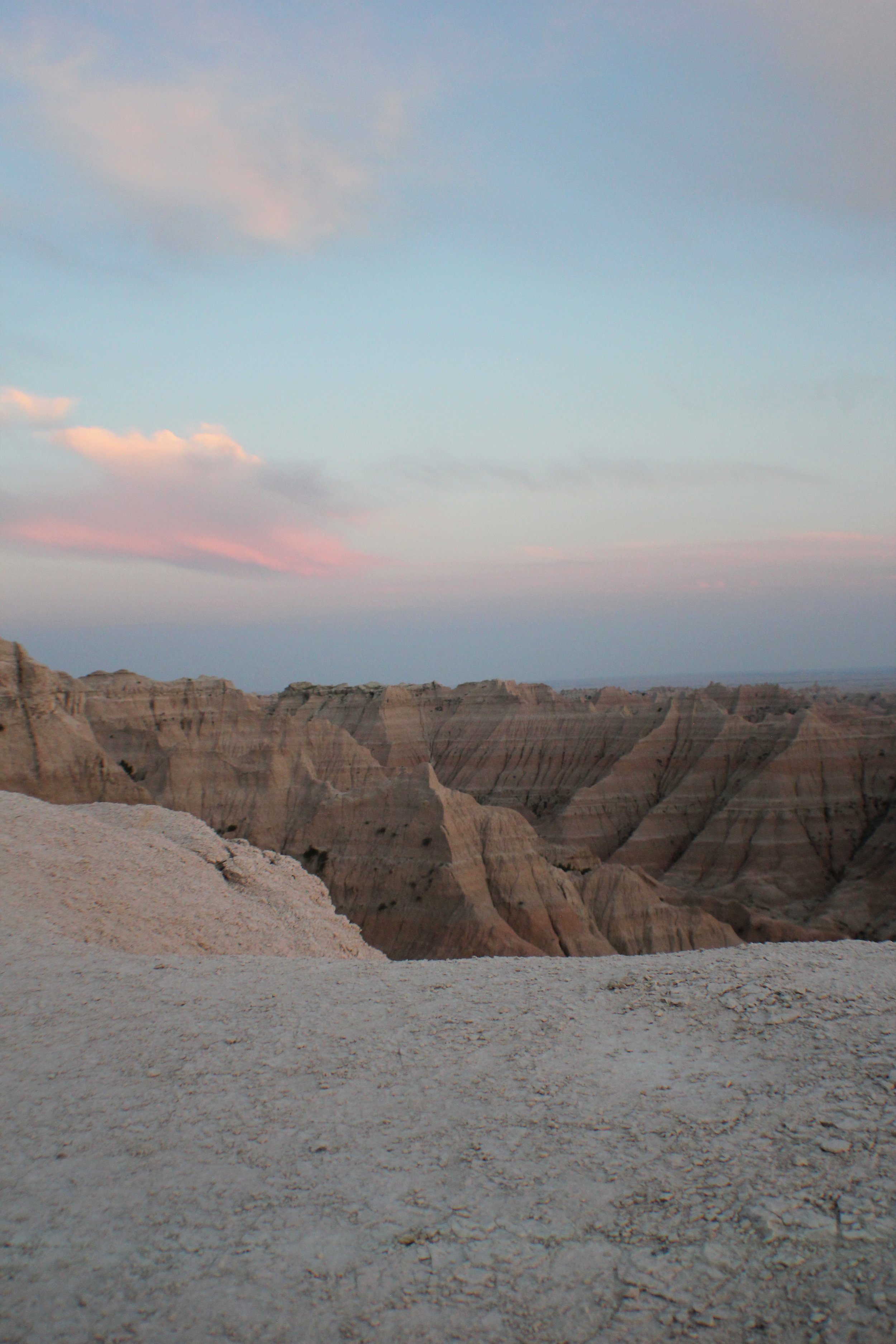 Badlands and Cotton Candy Skies