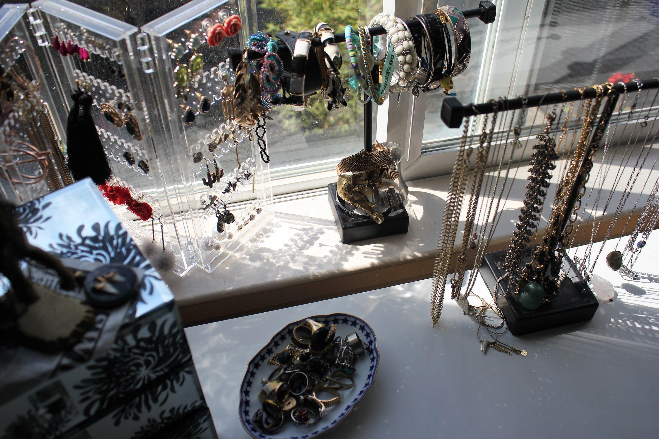 Jewelry Storage ideas via Que Sera Sahra