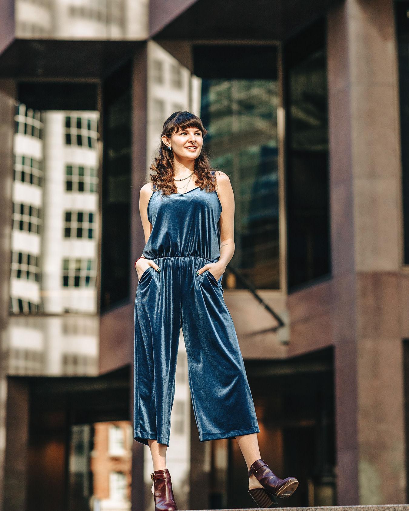 Holiday 2018: Blue Velvet Jumpsuit