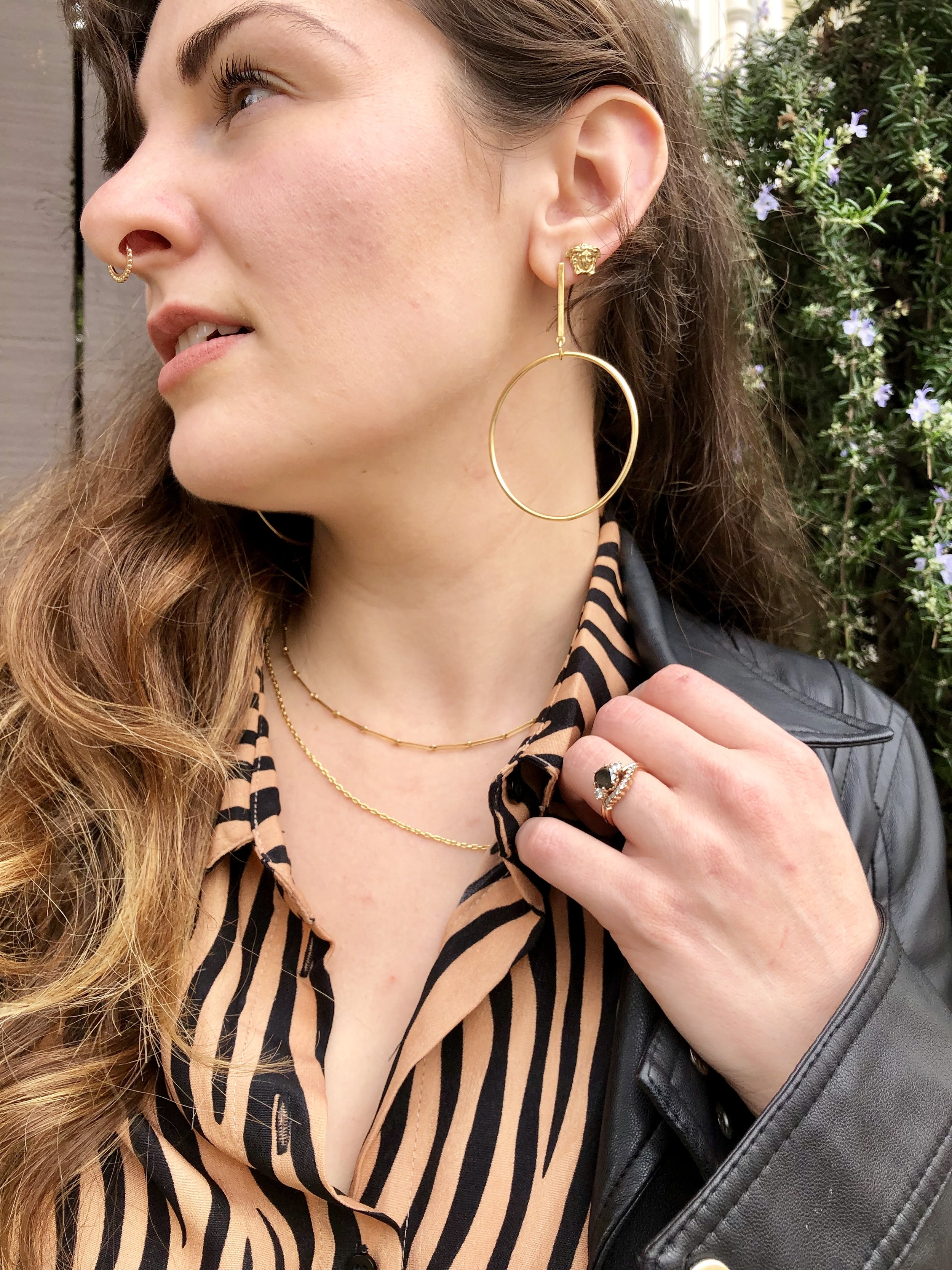 Tiger Stripes and Gold Jewels on blogger Que Sera Sahra
