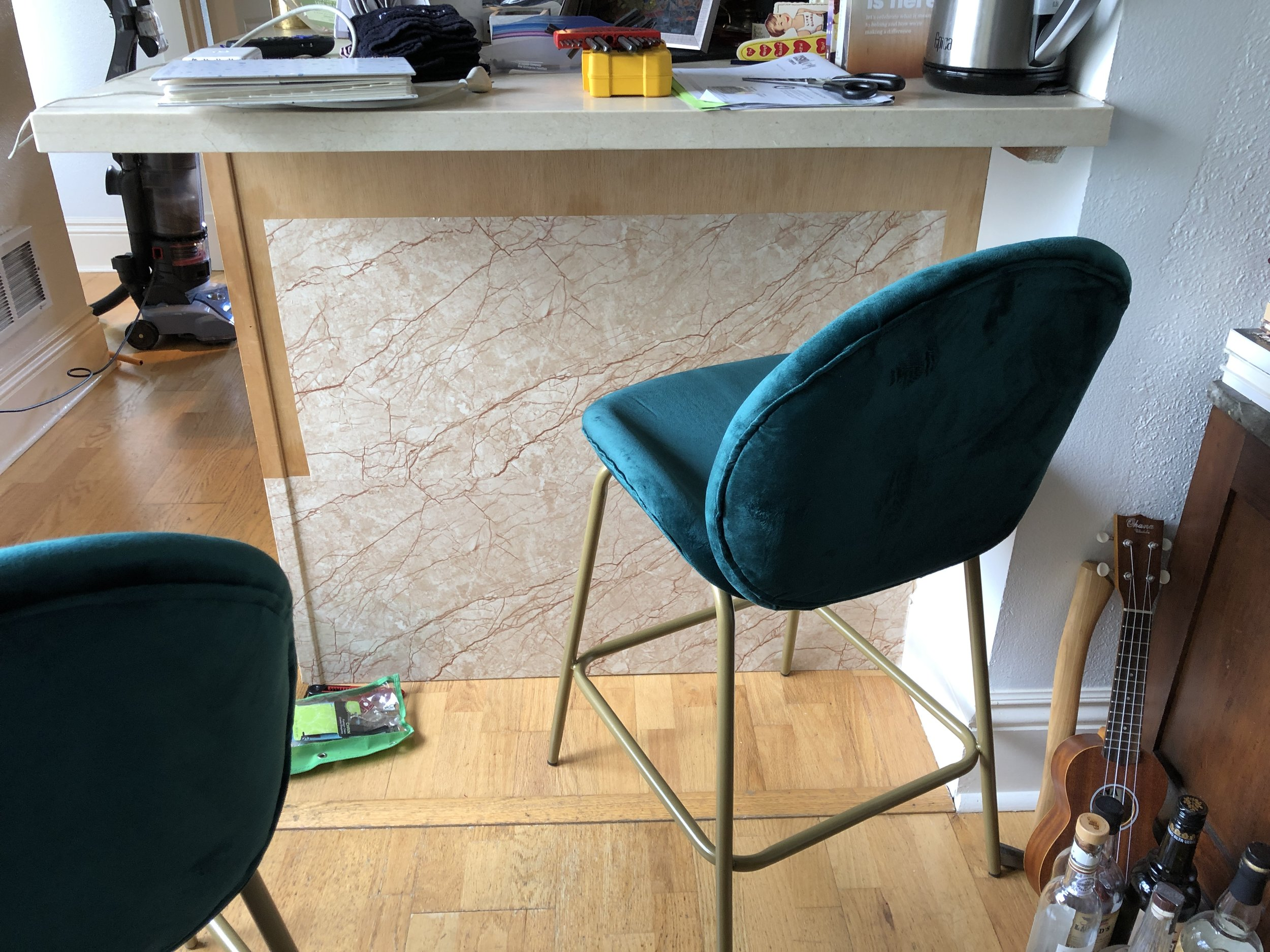 The Progress - Marble Contact Paper Kitchen Island