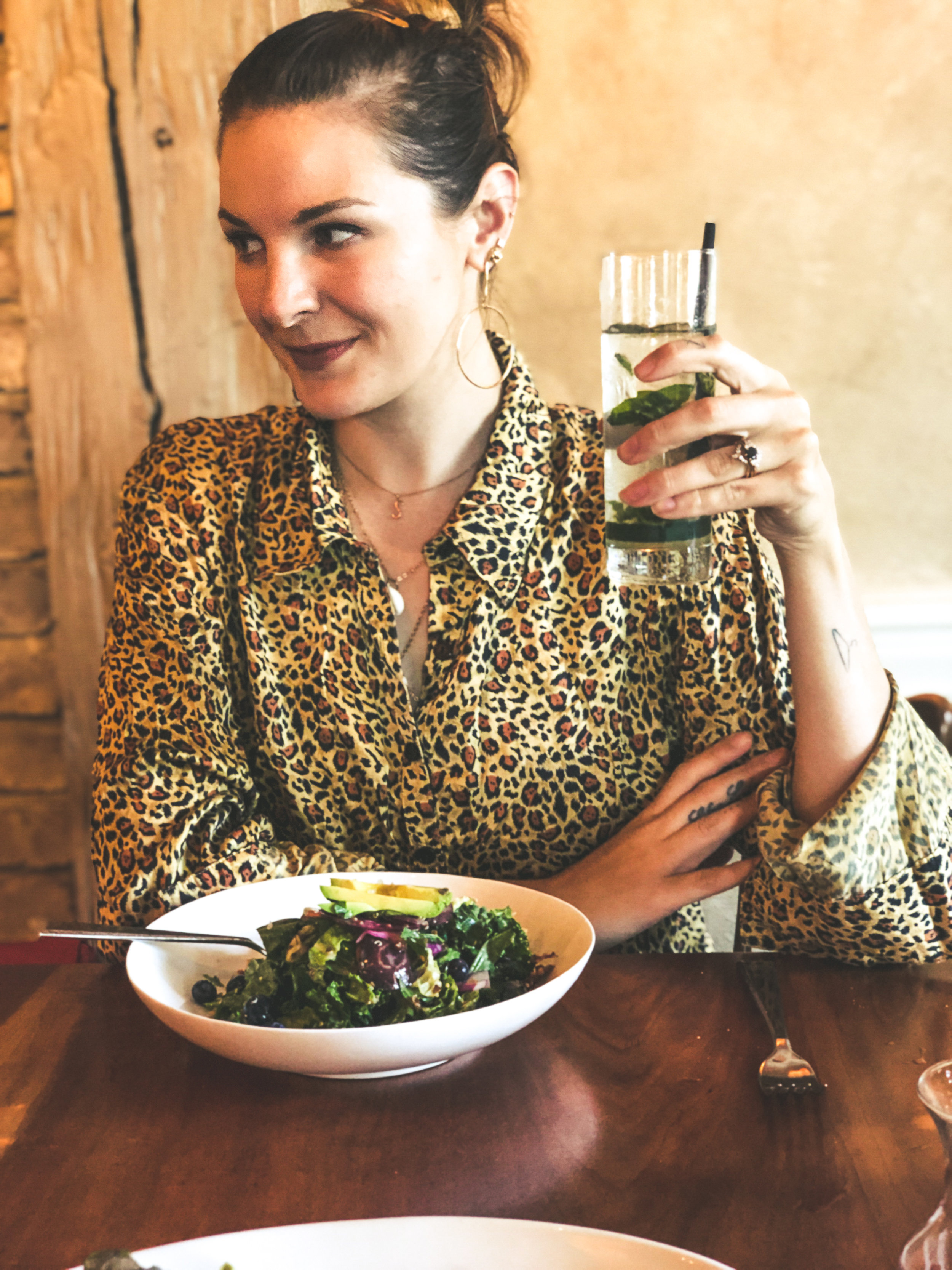 Just a girl and her Kale (Four Columns Inn, Newfane, Vermont)