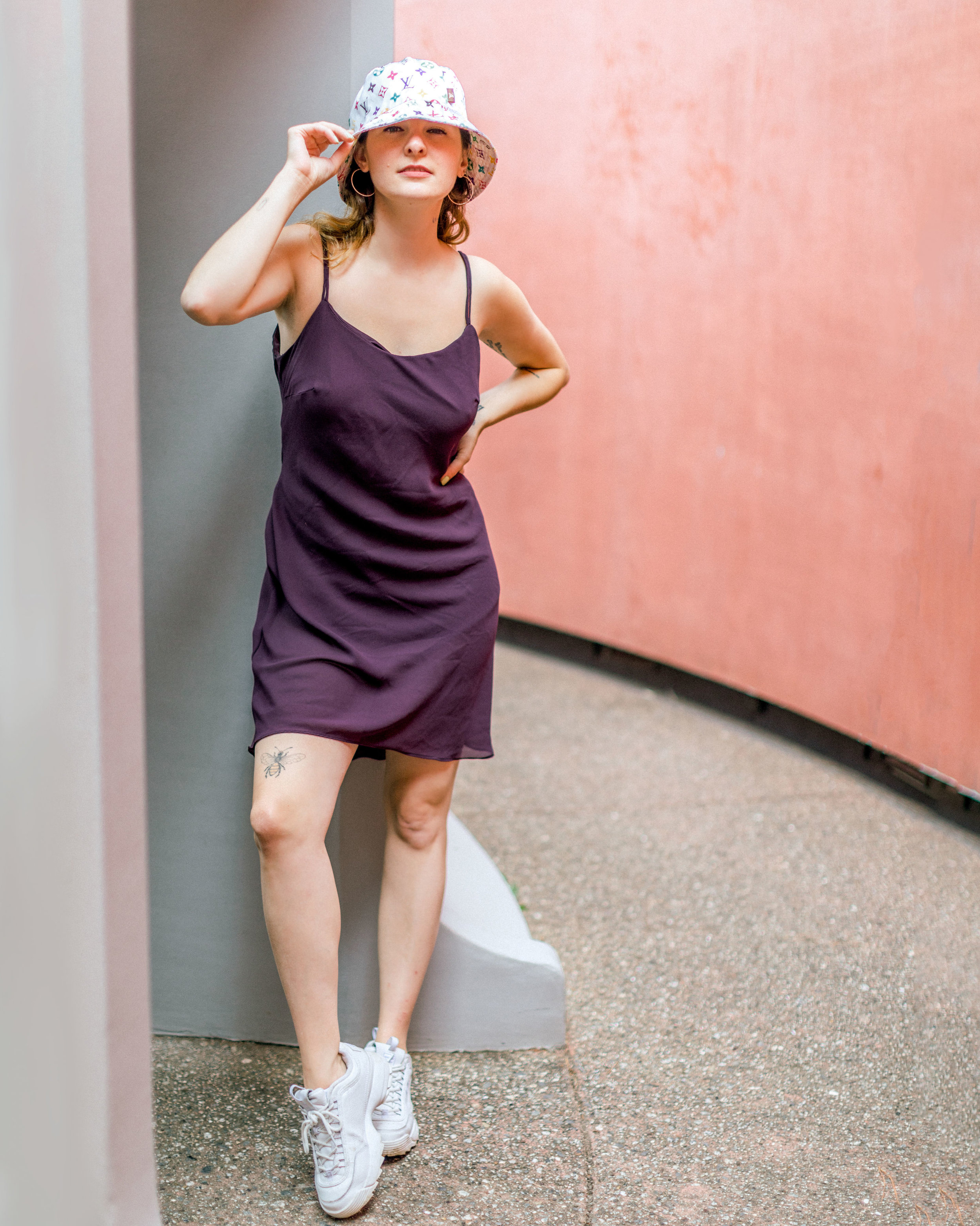 90s Revival Style in Slip Dresses and bucket hats