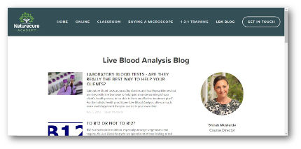 live blood analysis blog