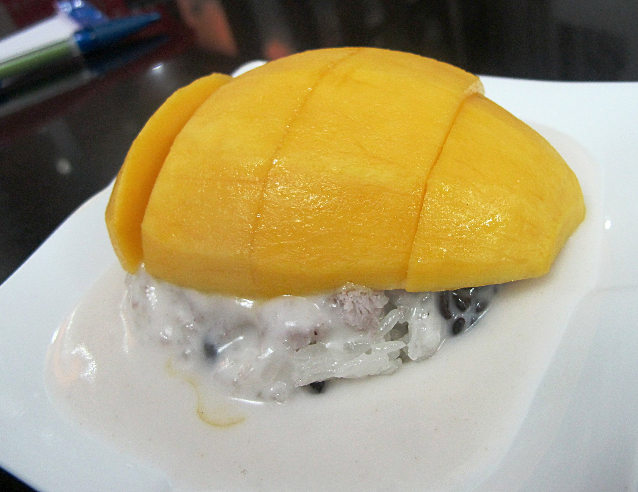 Saigon - Street Food Tour - Mango Sticky Rice.JPG