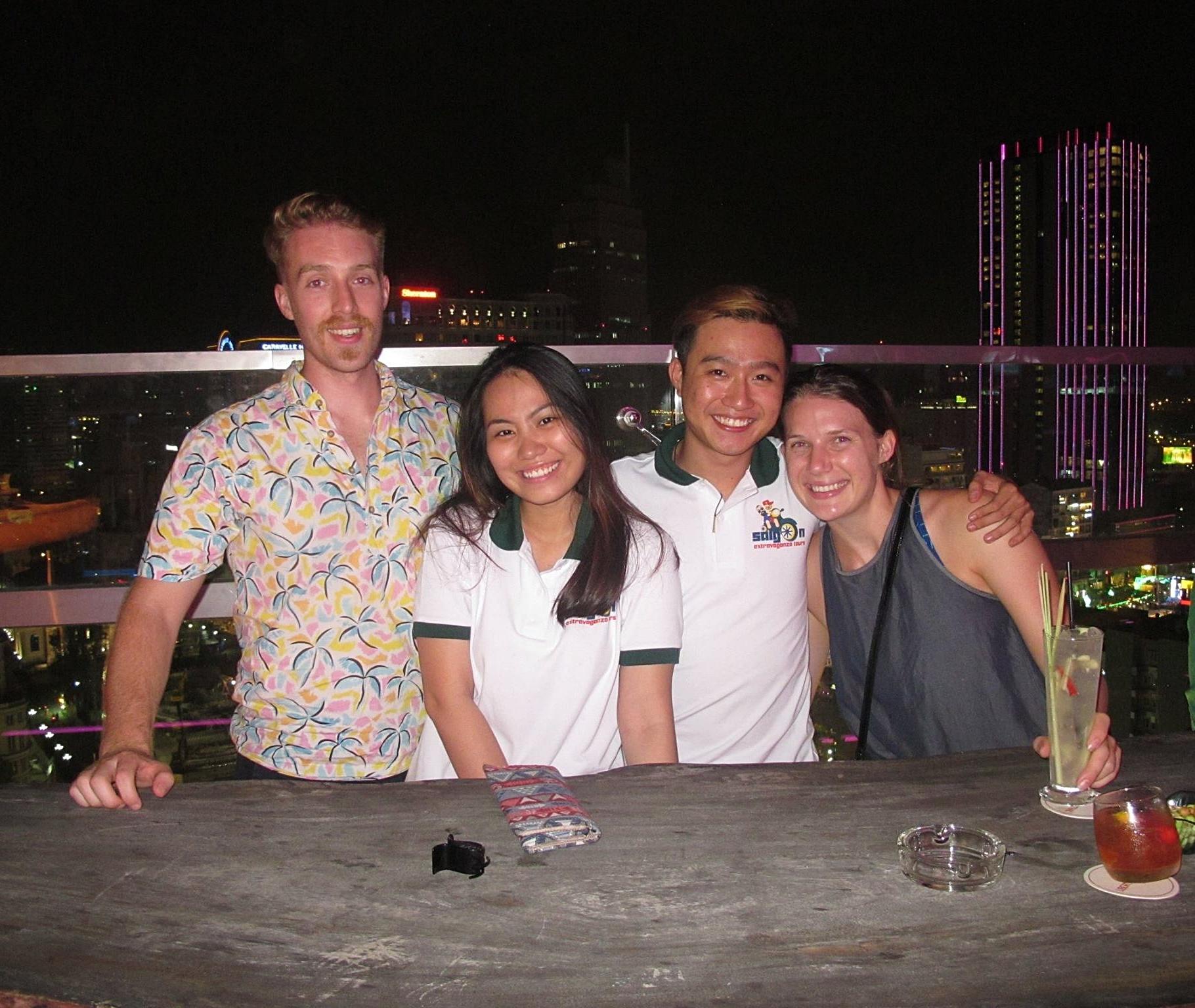 Saigon - Ho Chi Minh City - Motorbike - Nightlife - Rooftop Bar