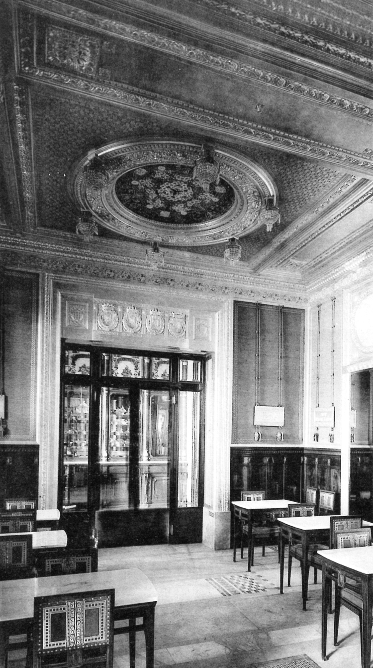 Giulio Casanova, Edoardo Rubino, l'utilisation décorative des armoiries de la dynastie Savoy dans la confiserie Baratti & AMP;  Milan