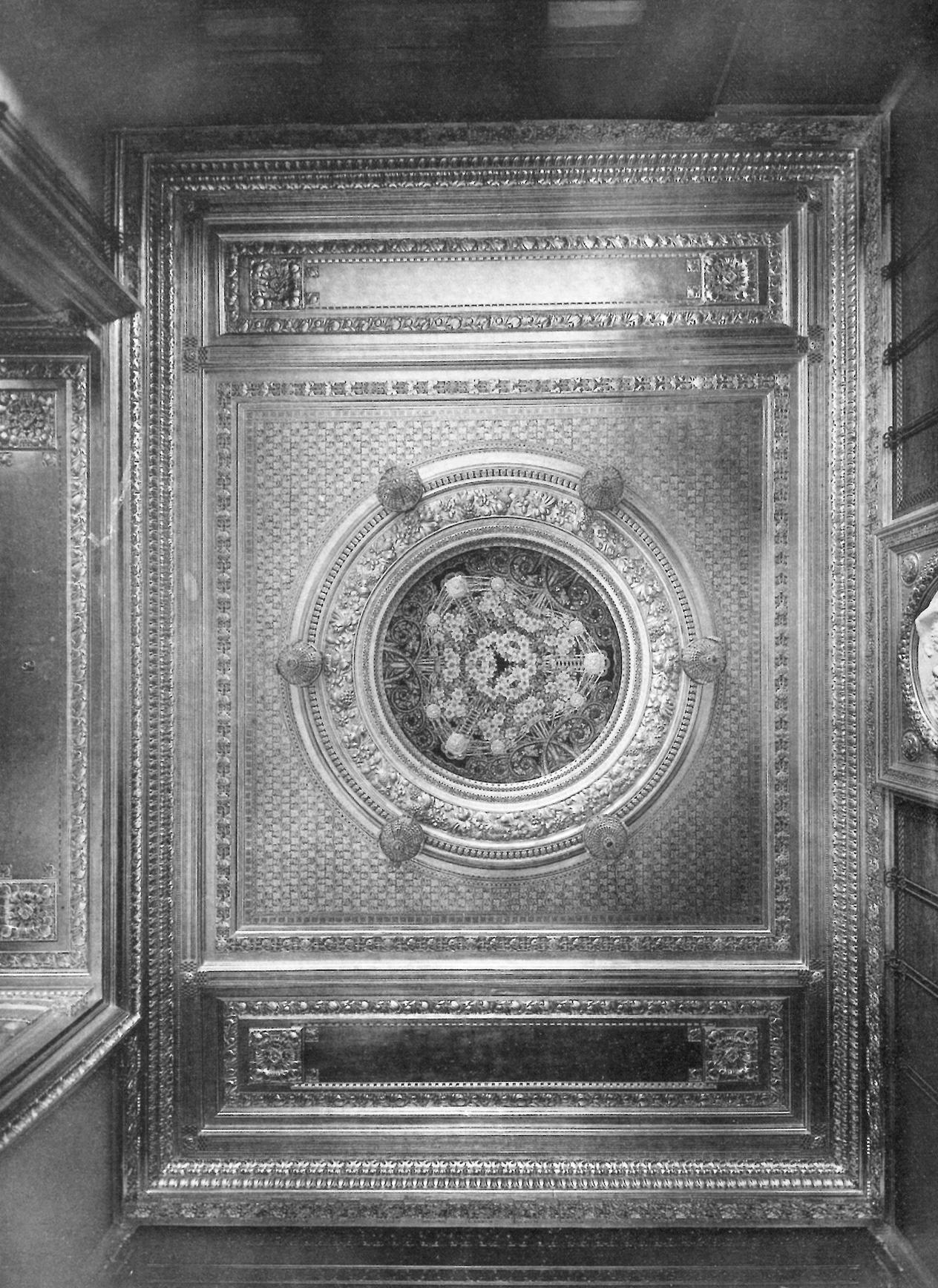 """""""Soffitto della Confetteria Baratti & Milano. Giulio Casanova, in «L'ambiente moderno», II [1910-1911], tav. 86"""