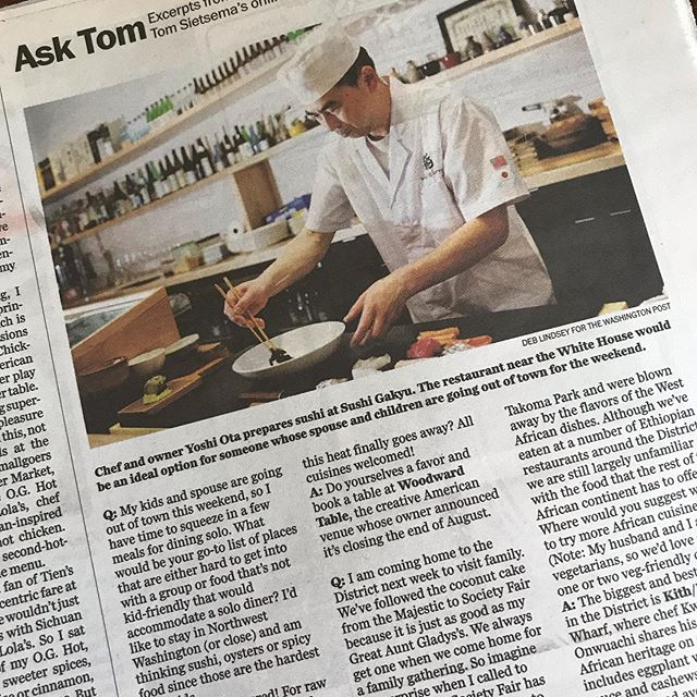Thank you for your recommendation #tomsietsema #washingtonpost #deblindsey