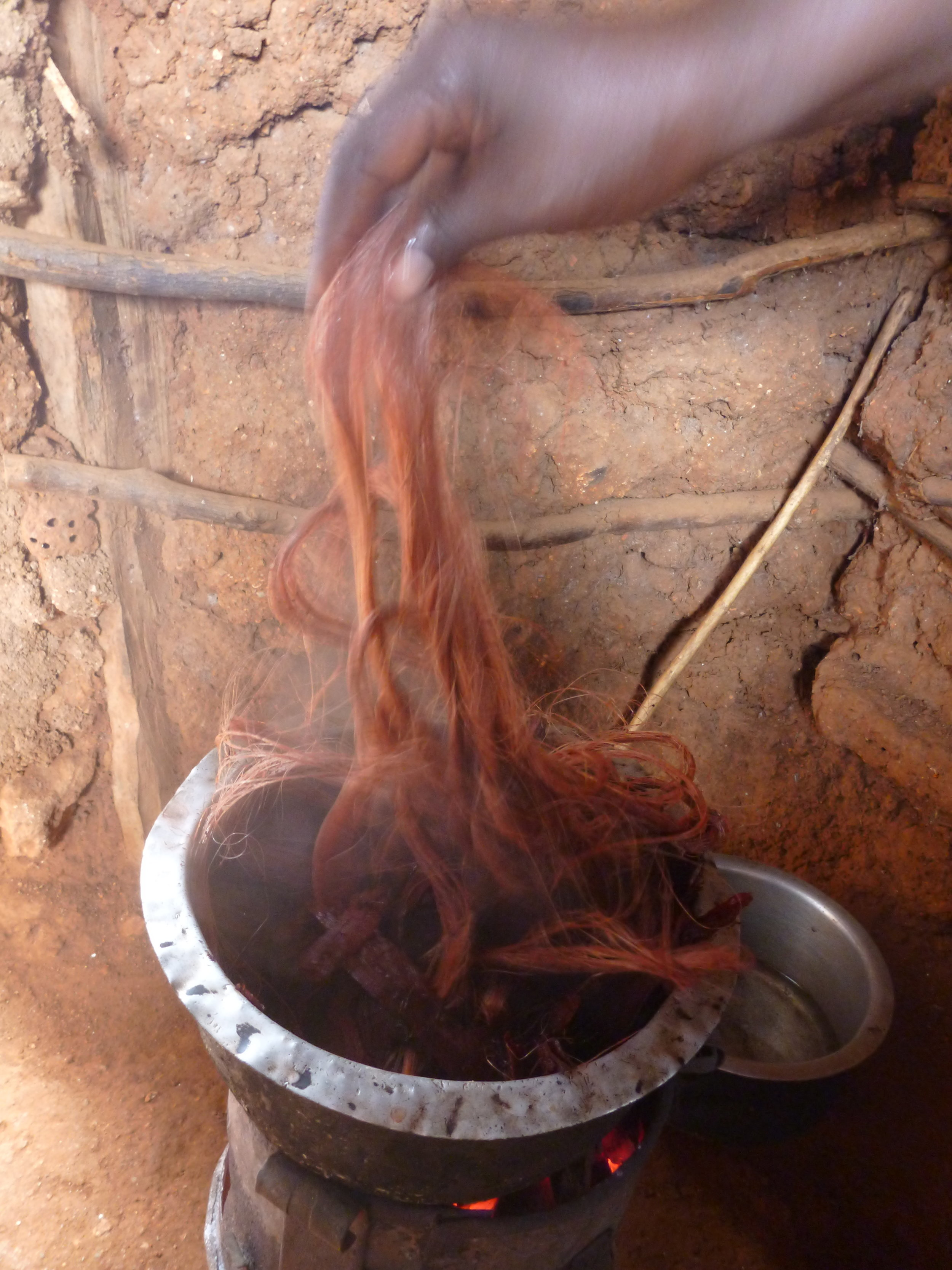 3. Dyeing and drying