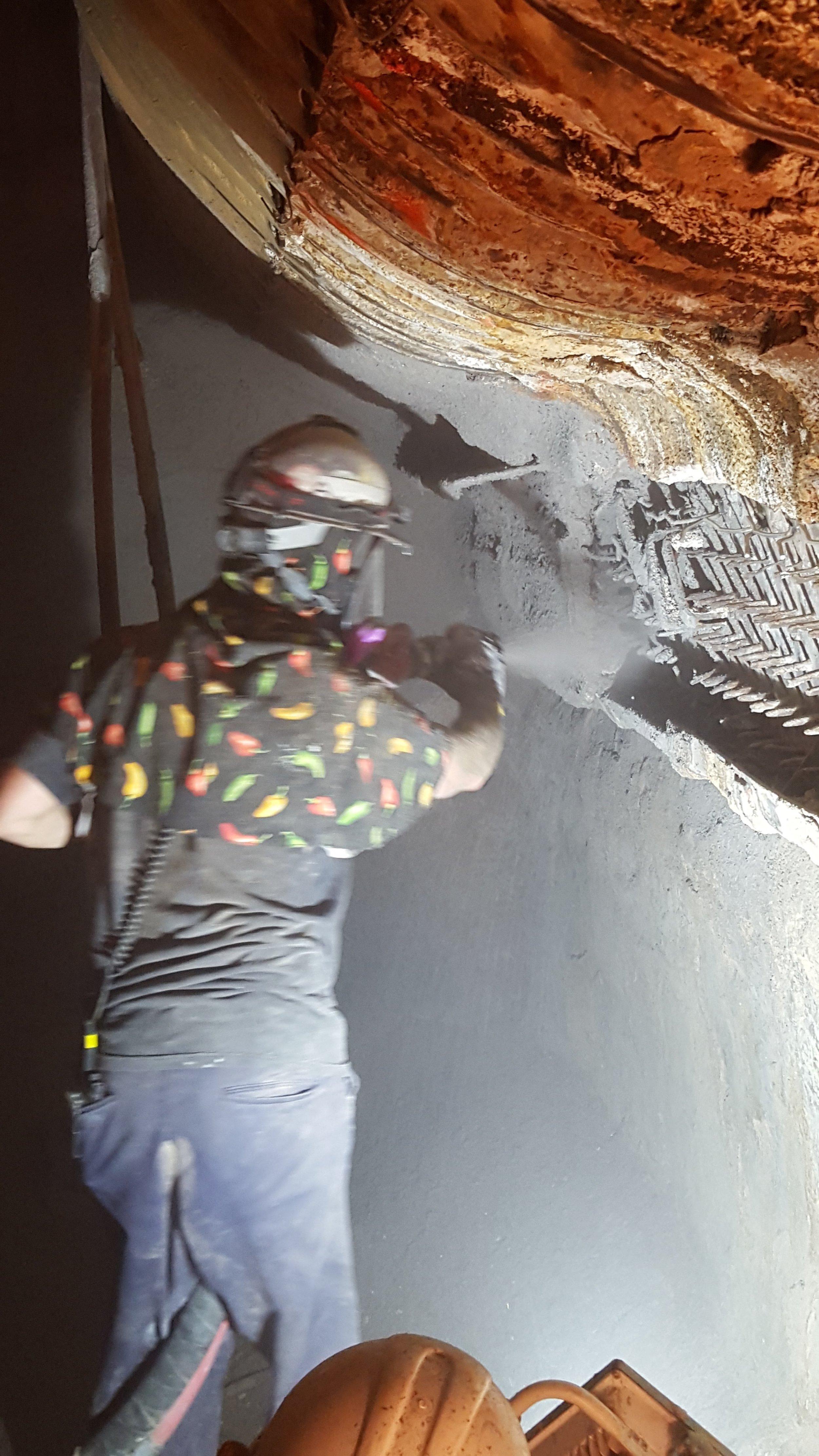 Wet Bottom Ash Hopper Repairs