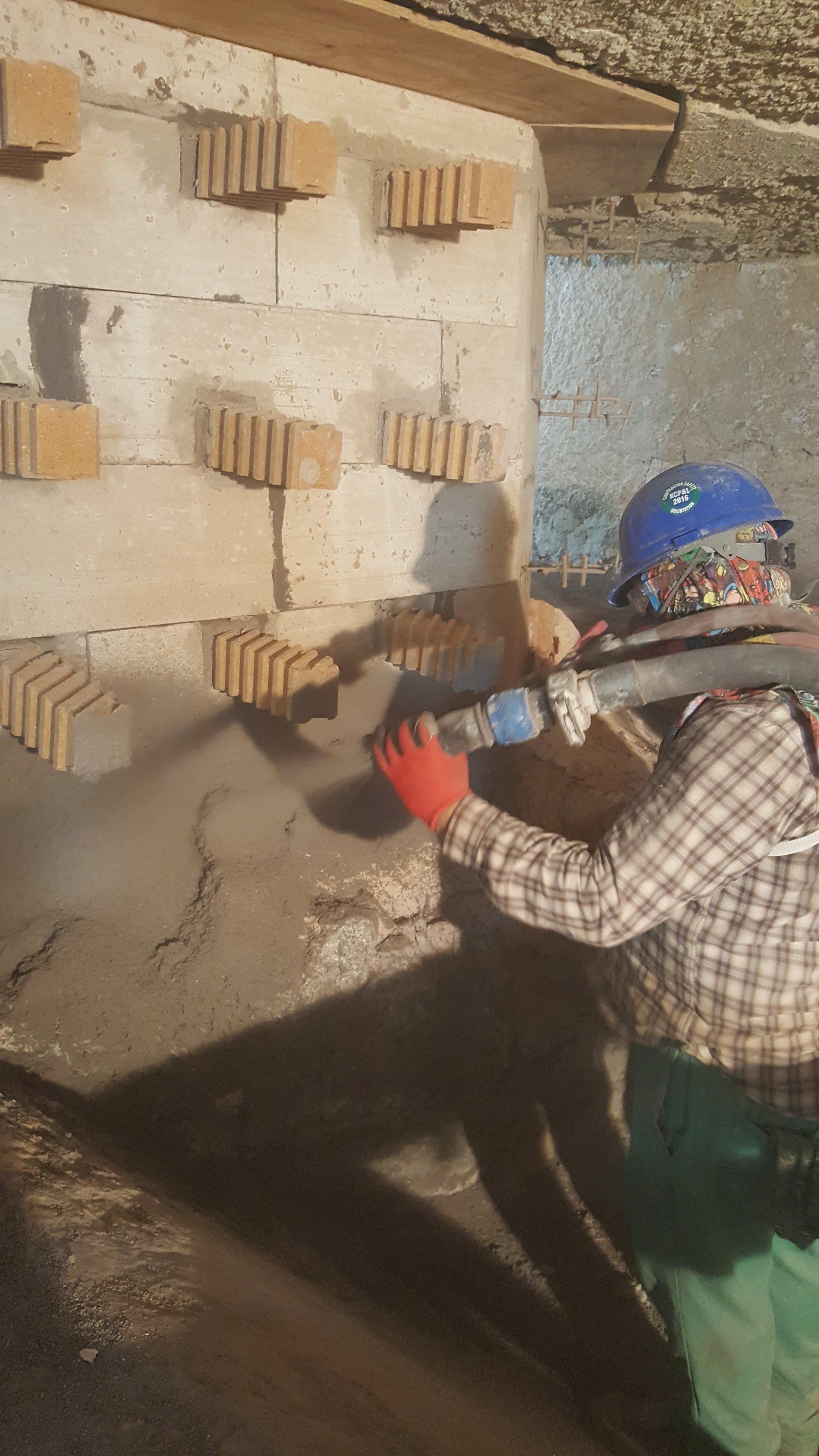 Aluminum Melter Wall Repairs