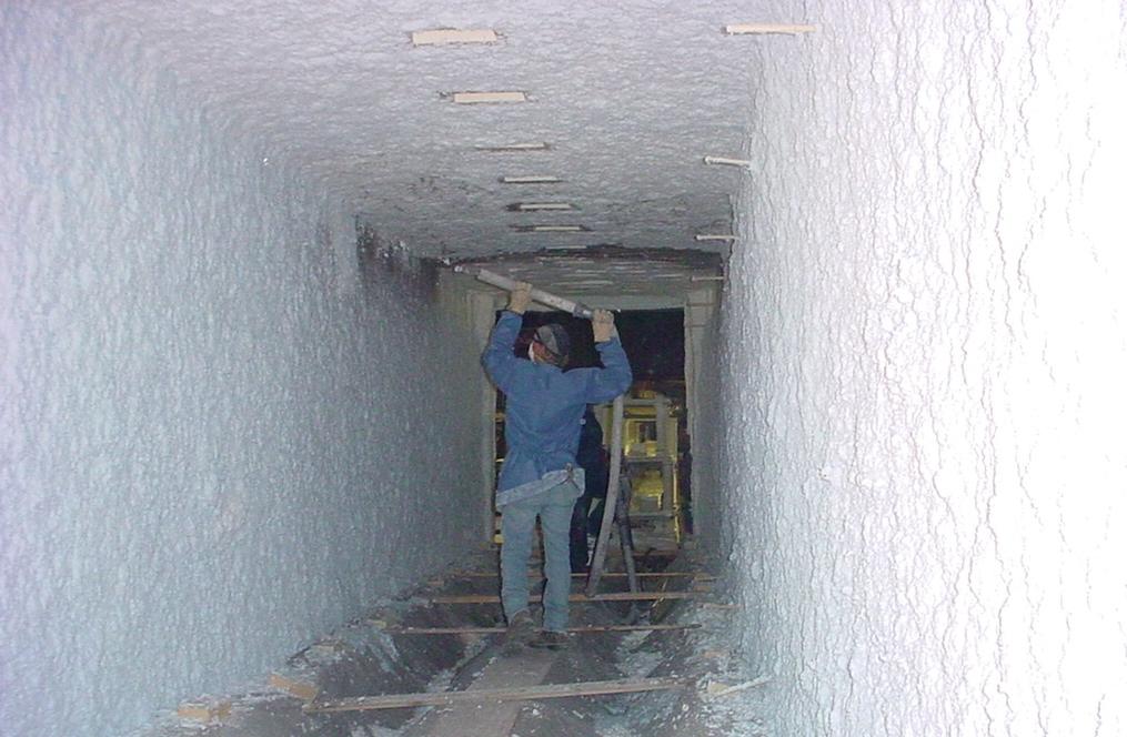 Foamfrax Repair of Module Lined Heat Treat Kiln
