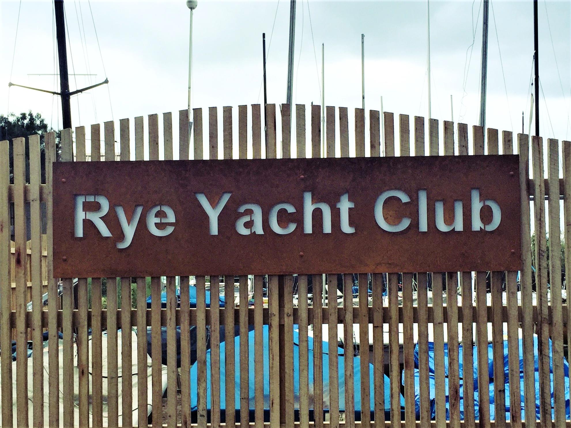RYE YACHT CLUB SIGN