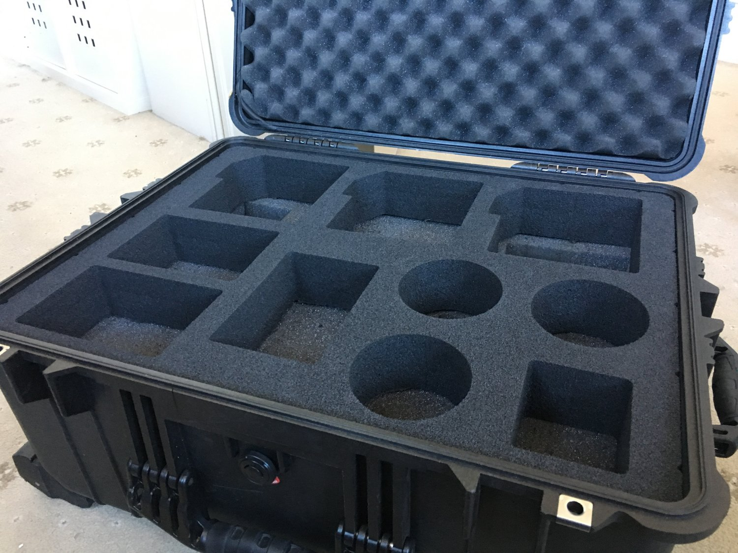 soft foam case insert - Soft polyethylene foam equipment case inserts. Custom machined to fit cameras, firearms and other sensitive equipment .