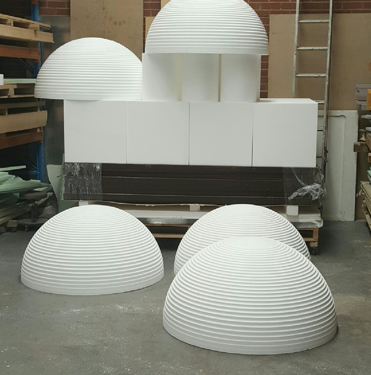3D shapes for concrete moulding