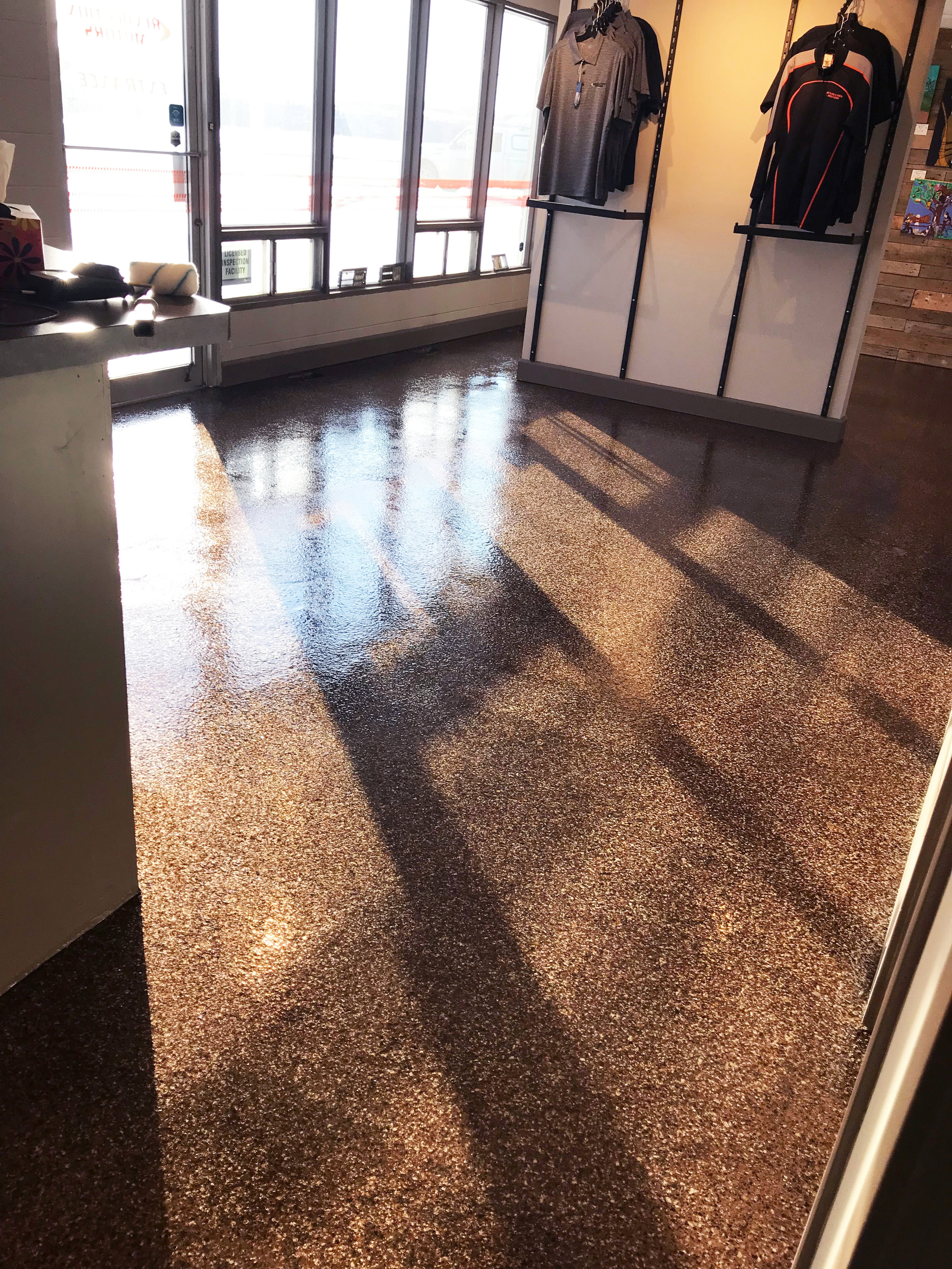 Floor is now easy to clean and will keep its shine.