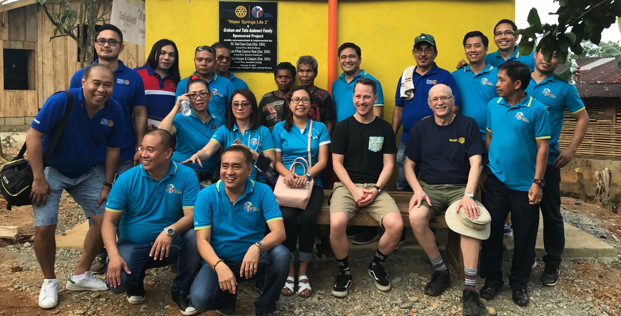 The great people of rotary that helped organize and execute this amazing project.