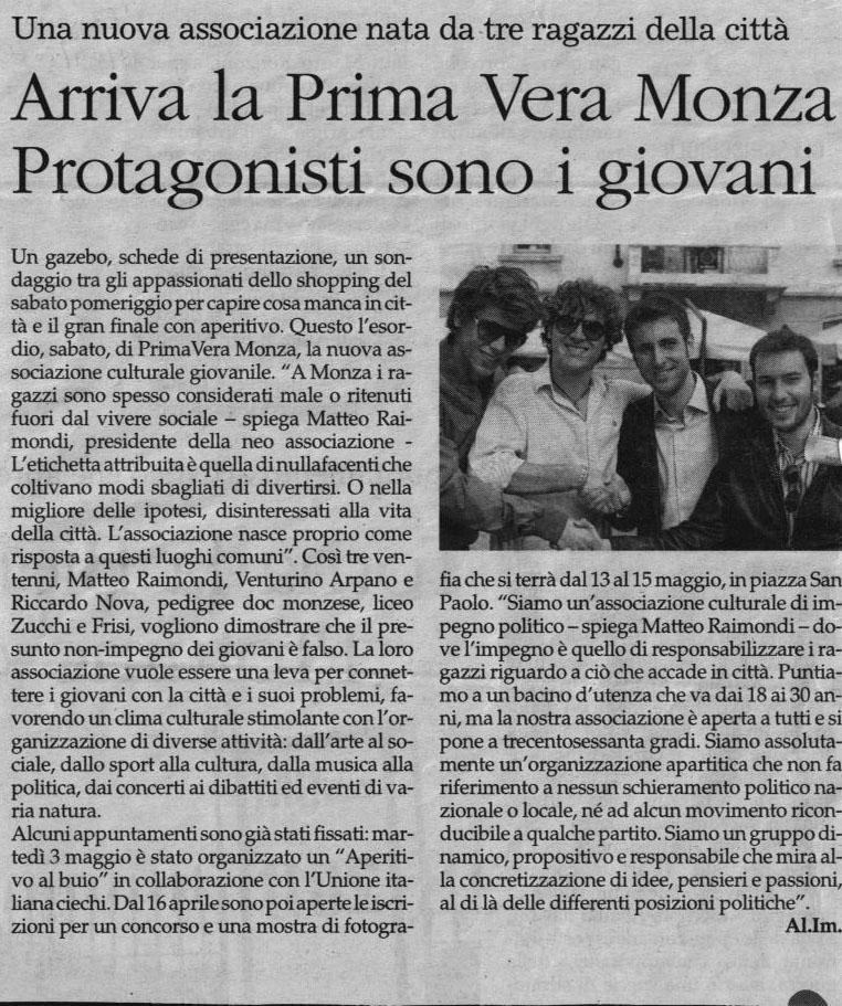 Arriva la PrimaVera Monza protagonisti sono i giovani