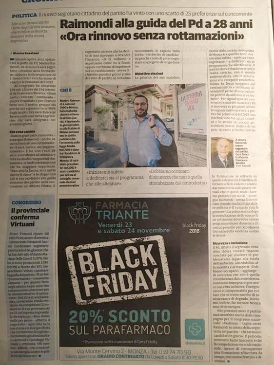 """Raimondi alla guida del PD a 28 anni """"Ora rinnovo senza rottamazioni"""""""