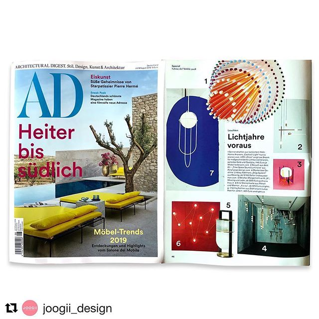 Thank you Architectural Digest Germany @ad_germany ✨✨✨