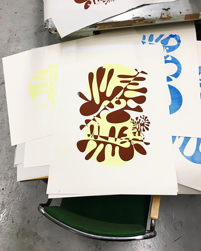 My the first attempt in screen-printing!🤞