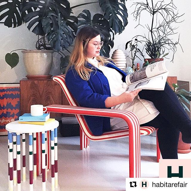 "#Repost @habitarefair 💫💛 ・・・ What's up, Hanna Anonen? ""I'm currently busy working on projects for clients but also adding finishing touches for the products I will have on display on my stand at SaloneSatellite in Milan come spring"", Hanna says.  Hanna has been part of both the Protoshop exhibition and the Talentshop exhibition and reminisces the encounters with different people and companies with great warmth. For her, exhibitions in Habitare were a great way to learn presenting her works and to build up courage and confidence as well as strenghten her designer identity.  Hanna's deliciously coloured works have been praised in publications such as Vogue, Elle Decor and RUM. Dwell just recently listed Hanna as one of the up-and-coming designer to watch. We agree! Check out her works 👉🏻 @hannaanonen ✨  We're currently looking for this year's Protoshop and Talentshop talents! Are you one of them? Read more and apply by the 14th of February at our website, link in bio.  #habitare2019 #imudesign #protoshop #talentshop #hannaanonen"