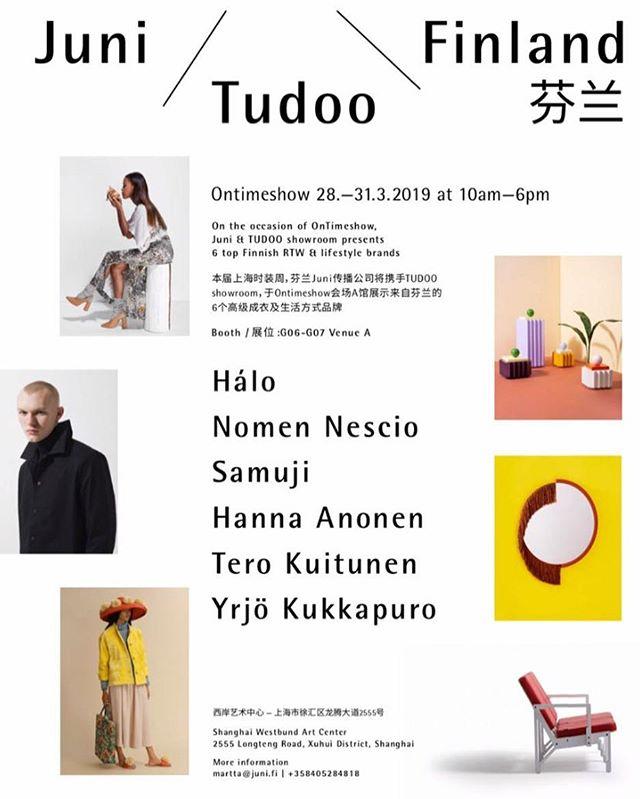 Ontimeshow in Shanghai✨ @samujistudio @nomennescio.fi @halofromnorth @tero_kuitunen_design @hannaanonen @juni_communication #yrjökukkapuro #shanghaifashionweek