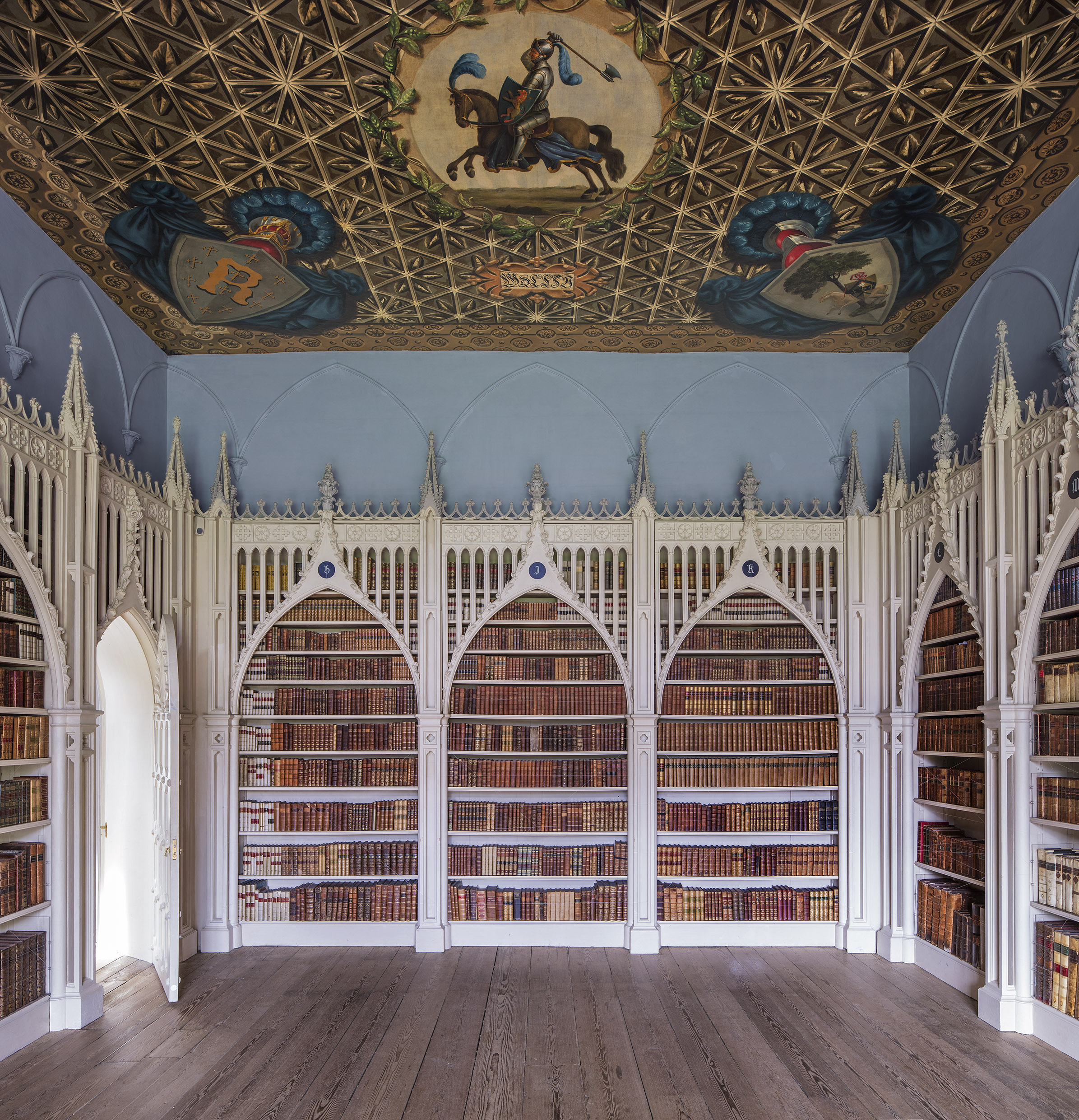 Horace Walpole's Library  Strawberry Hill, Twickenham, England