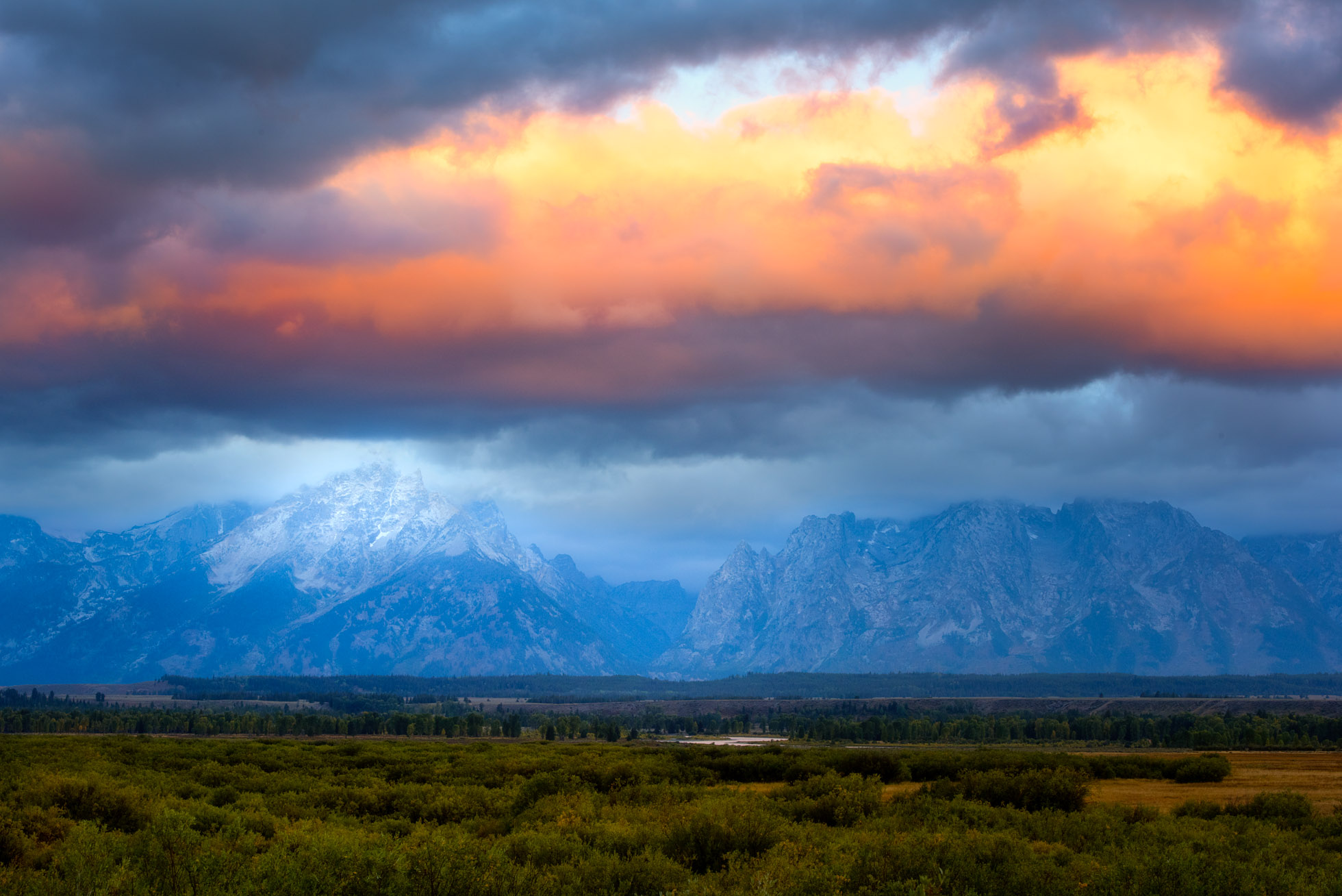 I watched the clouds drift over the Tetons for 2 hours this September morning.