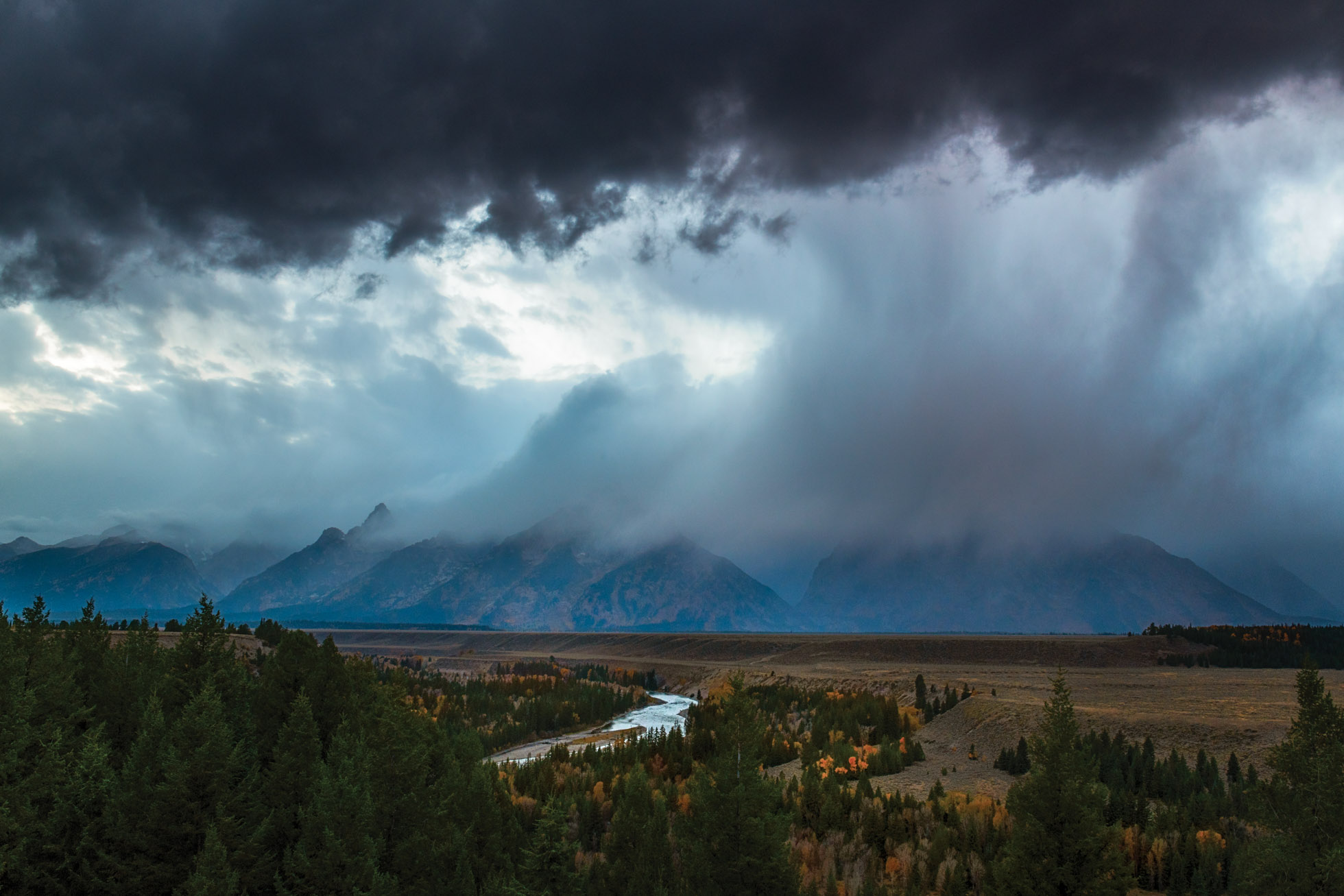 When Sunset is Stormy in the Tetons. Grand Teton National Park, Wyoming