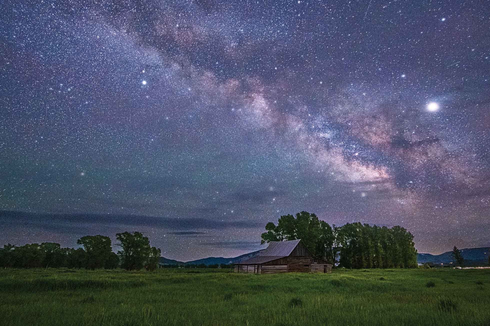 Milky Way over the Moulton Barn in Jackson Hole, Wyoming at the June 2019 Magic in the Tetons Retreat