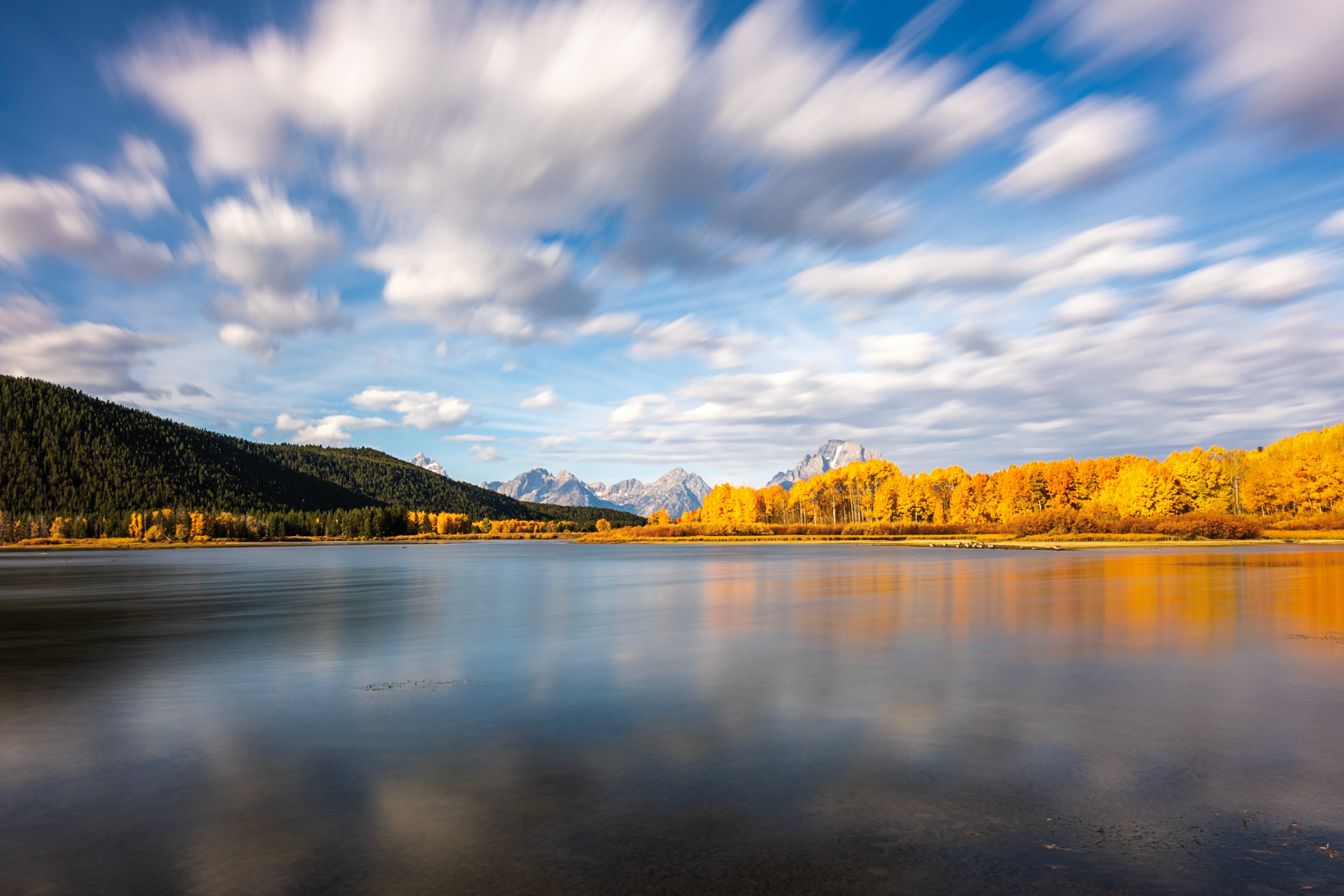 30 second exposure at Oxbow Bend with a 10 stop Neutral Density Filter