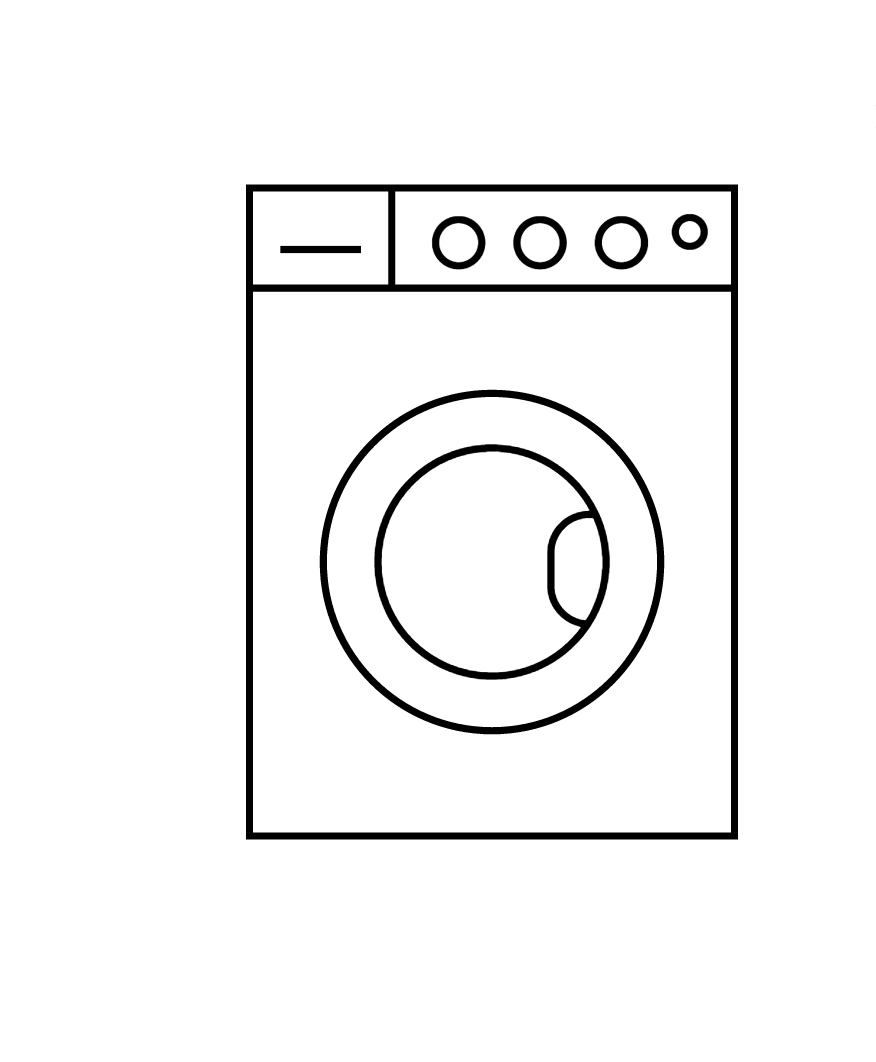 LAUNDRY AREA  Washing machine, drying machine and detergent available.