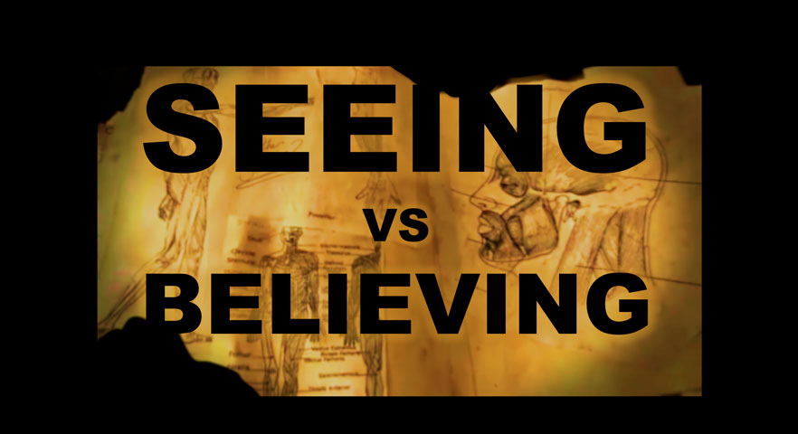 Seeing vs. Believing is a television show that follows the adventures of two friends on-the-road across America attempting to explain the unexplainable. Seeing vs Believing aired on TLC.