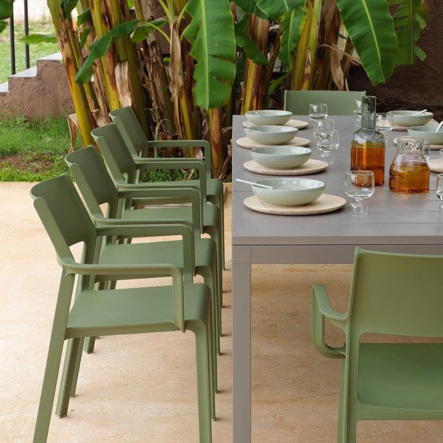Patio. Season. Is. Here. Does your patio need a refresh? The TRILL Chair is in stock in a variety of beautiful colours! Commercial quality and ready to withstand the abuse of a high traffic patio!