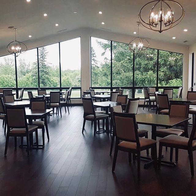 Trafalgar Golf & CC with the San Diego Stacking Chair, Churchill Stacking Chair and Solid Wood Table Tops.  #restaurantfurniture #breweryfurniture #brewpub #restaurantchairs #barstools #commercialseating #contractseating #restaurantseating #pubchairs #brewery #woodchairs #industrialchairs #restauranttables #barfurniture #brewing #craftbeer #craftbrewing #patiofurniture #sittinpretty