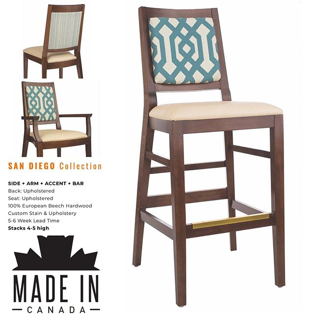 The San Diego comes in a side chair, armchair and barstool. The side and arm are stackable. San Diego - my favourite place and my favourite collection. *sighs - dreams of SD*  #restaurantfurniture #breweryfurniture #brewpub #restaurantchairs #barstools #commercialseating #contractseating #restaurantseating #pubchairs #brewery #woodchairs #industrialchairs #restauranttables #barfurniture #brewing #craftbeer #craftbrewing #patiofurniture #sittinpretty