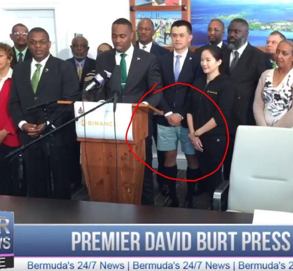 Source: CEO of Binance in Bermuda shorts, CEO of TSB having a moment