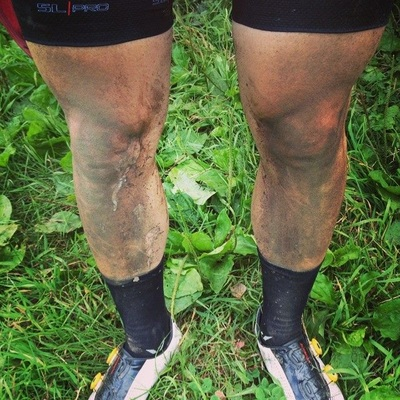 Adam's dirty legs after a long day IRR 3.0